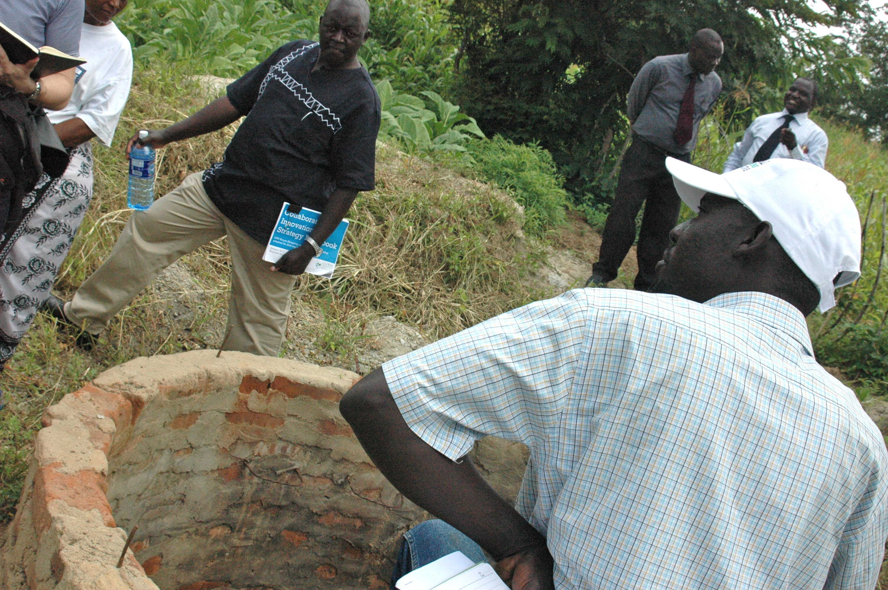 Round III of LINK focuses on rainwater harvesting technologies - like this well - in Kenya