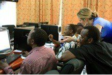 Technology can be vital for collaboration.  GKI introduces Tanzanian entrepreneurs to the Toolkit.  Photo credit: GKI