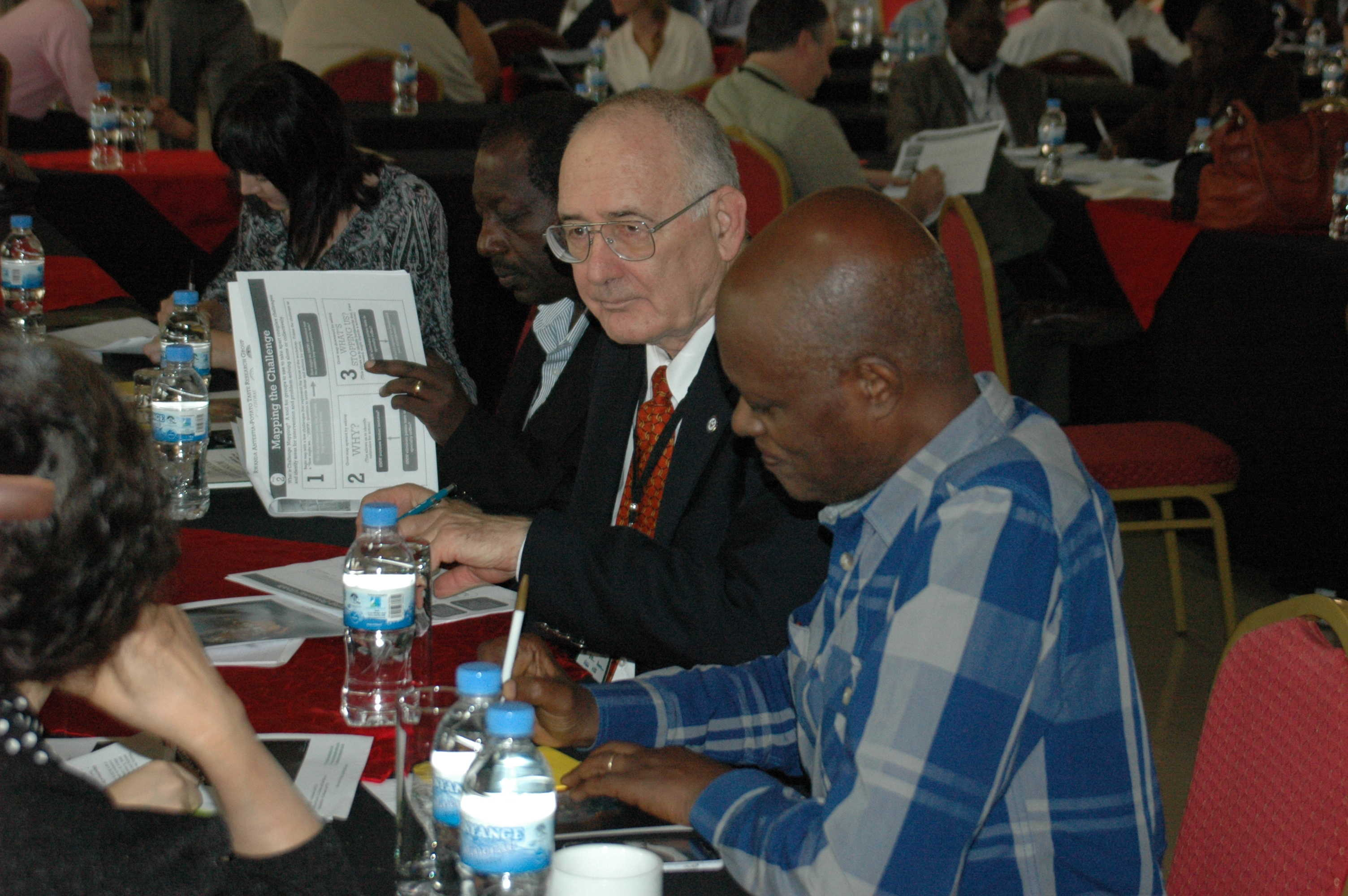 Participants identify priority challenges for action. Photo Credit: GKI