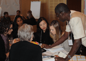 At Solutions Visioning, agribusiness experts discuss potential indicators for measuring their strategy against target outcomes. Photo Credit: GKI.