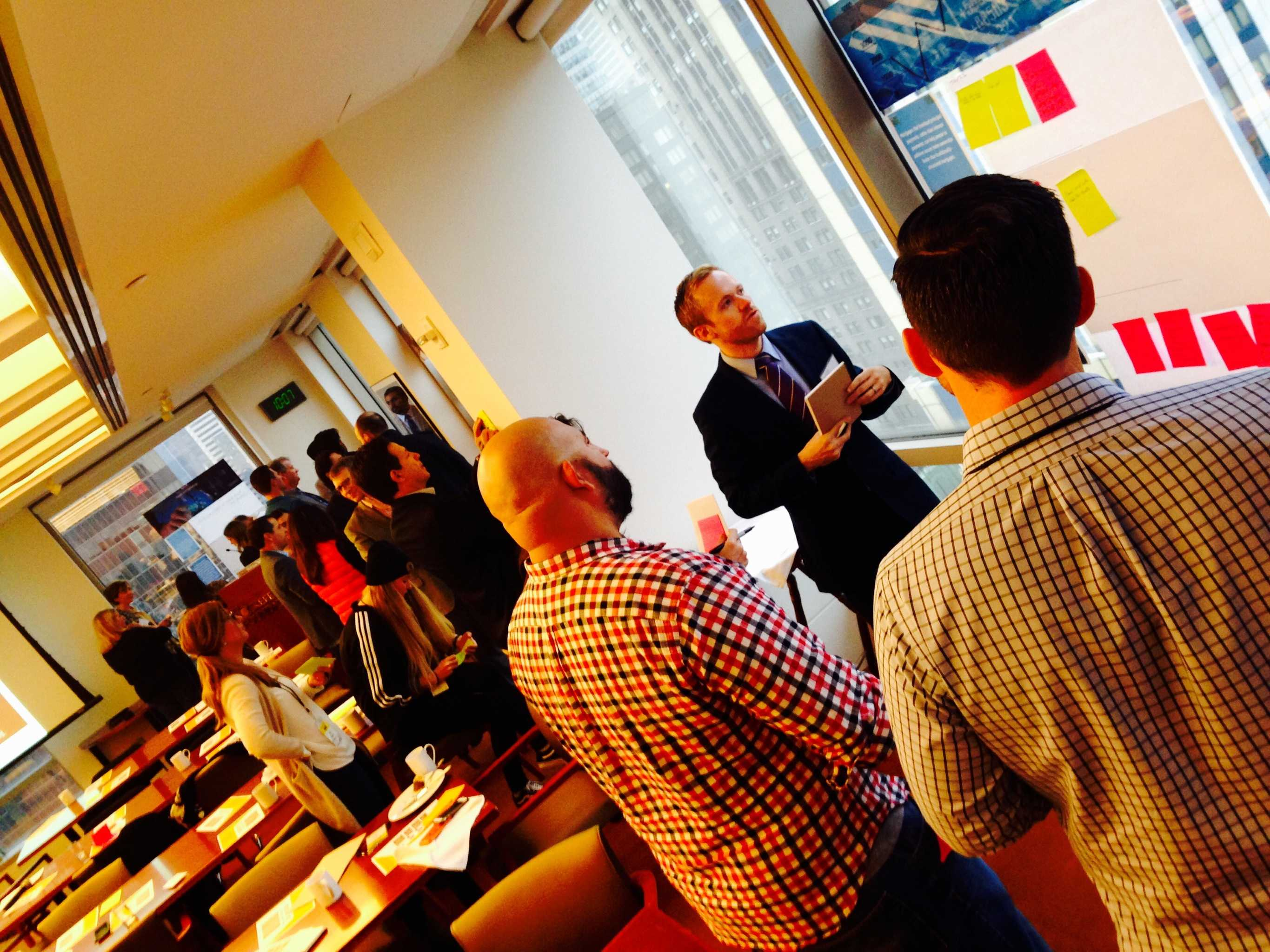 GKI staff facilitate insight sourcing at the Fast Company workshop. Photo Credit: Andrew Gerard