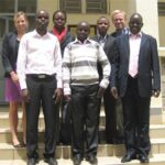 The YADSTI team and GKI program officers Amanda Rose and Andrew Gerard meet in Nairobi. Source: GKI